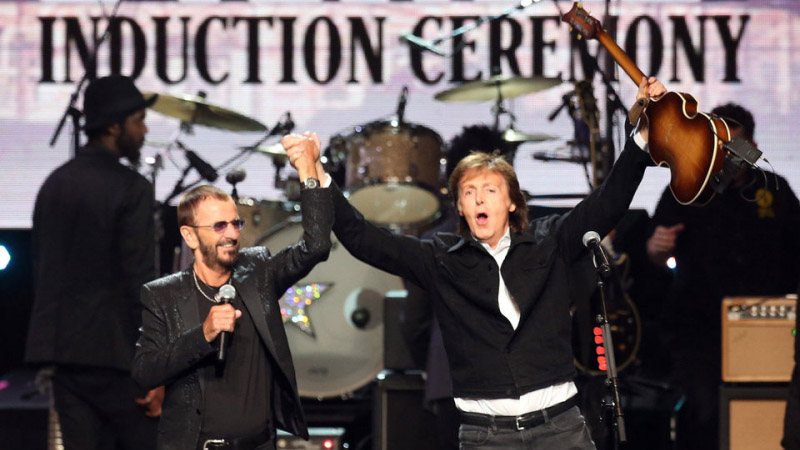 Ringo Starr Induction Ceremony